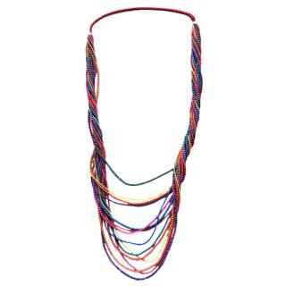 Dyrberg/Kern multi-coloured resin beaded necklace
