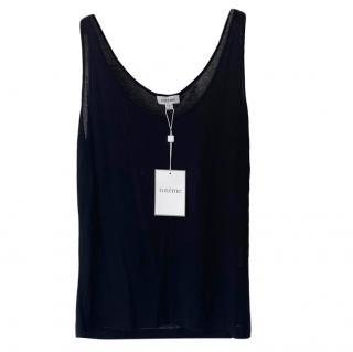 Toteme Black Cotton Sleeveless Top
