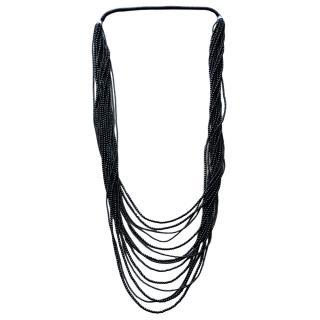 Dyrberg/Kern black resin beaded necklace