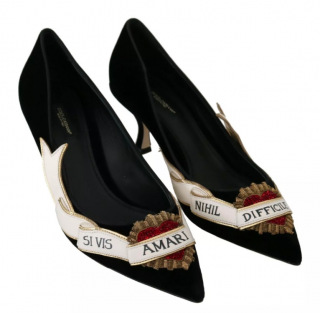 Dolce & Gabbana Velvet Amari Black Pumps