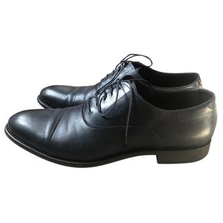 Hugo Boss navy leather derby shoes