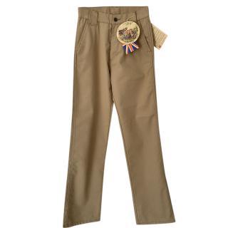 Belstaff beige cotton chino work wear trousers
