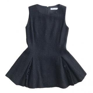 Dior Fit & Flare Virgin Wool Black Sleeveless Top