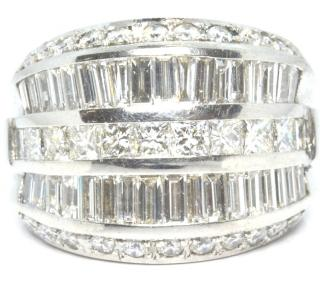 Bespoke 18ct white gold & diamond cocktail ring