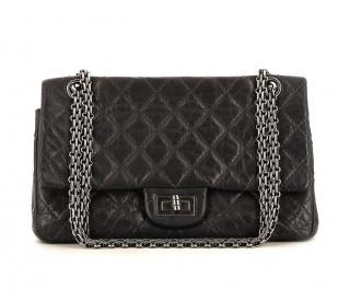 Chanel 2.55 black classic 227 Reissue double flap bag