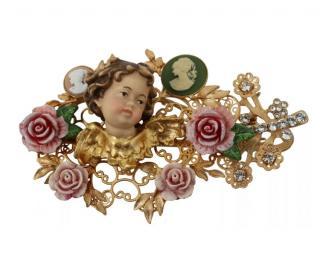 Dolce & Gabbana Cherub Floral Hair Barrette
