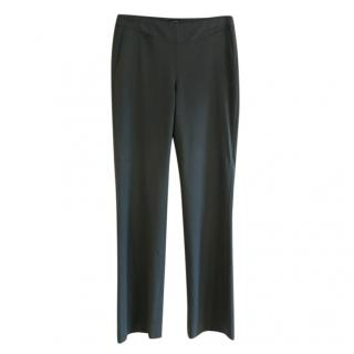 Joseph grey tailored wool blend trousers