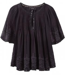 Isabel Marant Black Embroidered Alexia Runway Blouse