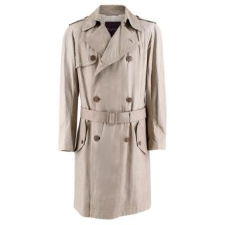 Asprey Men�s Grey Python Trench Coat