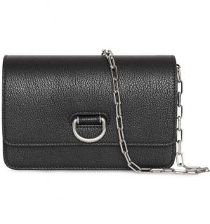 Burberry mini black leather D-ring bag