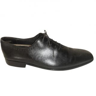 Boss Hugo Boss black leather derby shoes