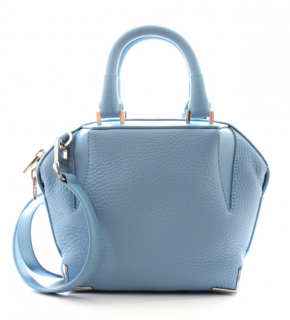 Alexander Wang Blue Grained Leather Top Handle Bag