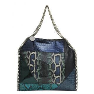 Stella McCartney Falabella blue patchwork tote bag