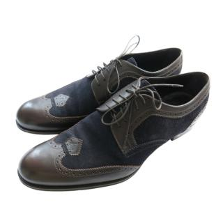 Louis Vuitton brown suede & leather brogues