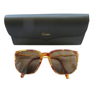Cartier 24ct gold plated tortoise shell sunglasses