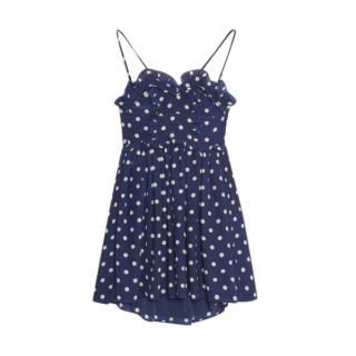 Balenciaga Crist�bal polka dot baby doll mini dress