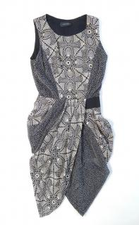 Thakoon grey Asymmetric printed dress