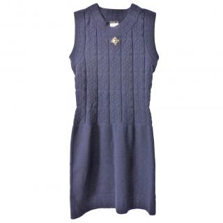 Chanel Paris Shanghai navy Camellia dress
