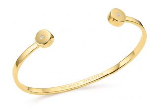 Monica Vinader 18ct gold plated Vermeil solo diamond cuff bracelet