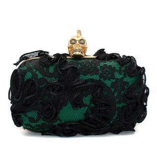 Alexander McQueen Punk Baroc Ruffle Skull Clutch Bag