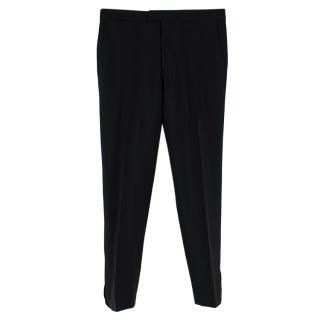 Raf Simons Straight Leg Wool & Mohair Pants
