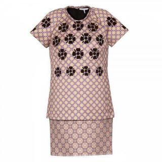 Victoria Victoria Beckham kaleidoscope raglan t-shirt mini dress