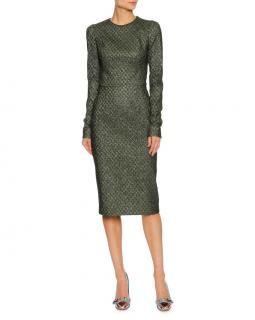 Dolce & Gabbana Metallic Jacquard Fitted Dress