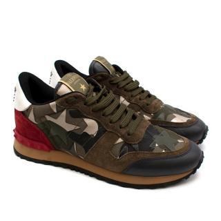 Valentino Star Camo Rockstud Sneakers