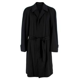 Corneliani Black Cashmere Trench Coat