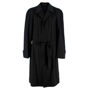 Corneliani Black Cashmere Trench Coat