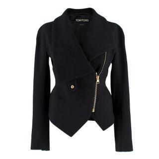Tom Ford Wool Blend Asymmetric Jacket