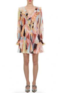 Self Portrait Pastel Geo Print Mini Dress