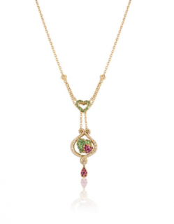 Bespoke Yellow Gold Diamond & Gemstone Pendant