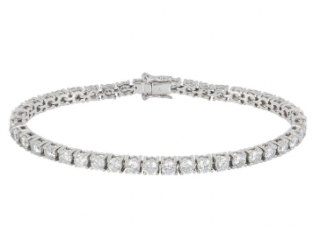 Bespoke White Gold Diamond Line Bracelet