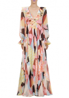 Self-Portrait Pastel Geo Maxi Dress