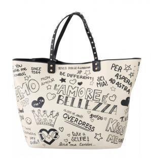 Dolce & Gabbana Beatrice leather L'Amore E'Bellezza tote bag