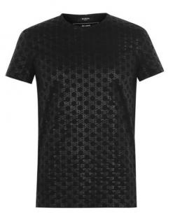 Balmain Mens Black Mono T-Shirt