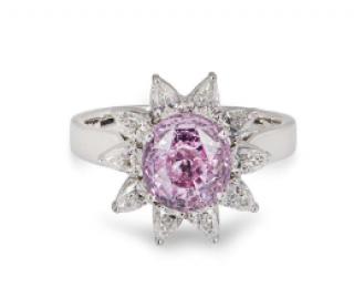 Bespoke White Gold Diamond & Sapphire Ring
