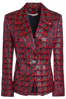 Diane Von Furstenberg Metallic jacquard tailored jacket