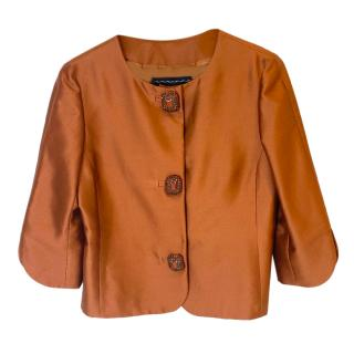 Andrew GN Silk Cropped Jacket