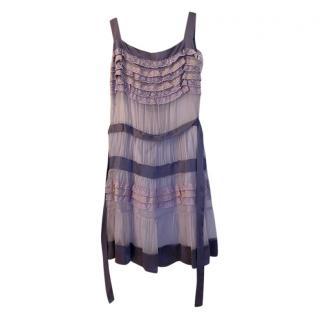 Philosophy di Alberta Ferretti Purple Silk Dress