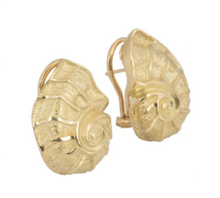 Tiffany & Co. Gold Shell Earrings