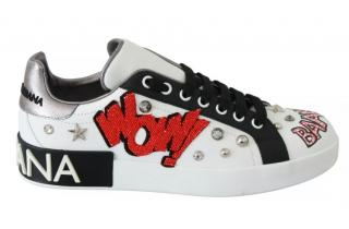Dolce & Gabbana White Patches Sneakers