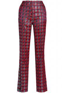 Diane Von Furstenberg Metallic-jacquard pants