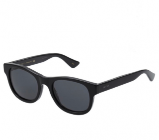 Gucci Black Unisex Classic Sunglasses