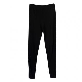 McQ Alexander McQueen perforated black leggings