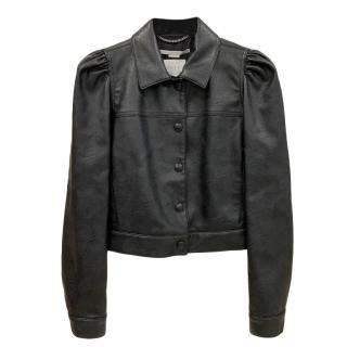 Stella McCartney Skin Free Skin black faux leather jacket