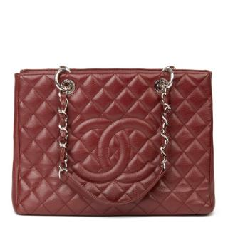 Chanel Burgundy Caviar Leather GST