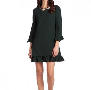 Dolce & Gabbana Cady green embellished dress