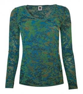 M Missoni Green Camo Knit Sweater